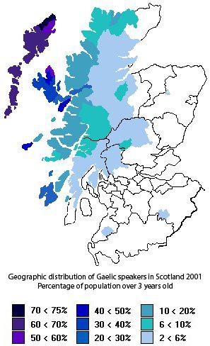 Gaelic Speakers Map